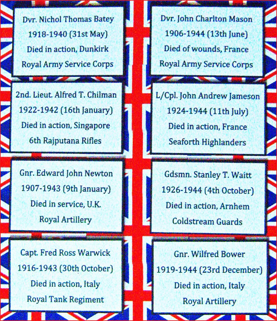 These eight cards will be displayed in a way similar to the 2018 seasonal display to honour the 42 Bellingham men who fell in the First World War