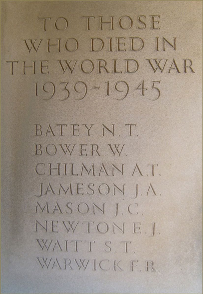 WW2 Memorial in the Lych Gate, Bellingham Cemetry