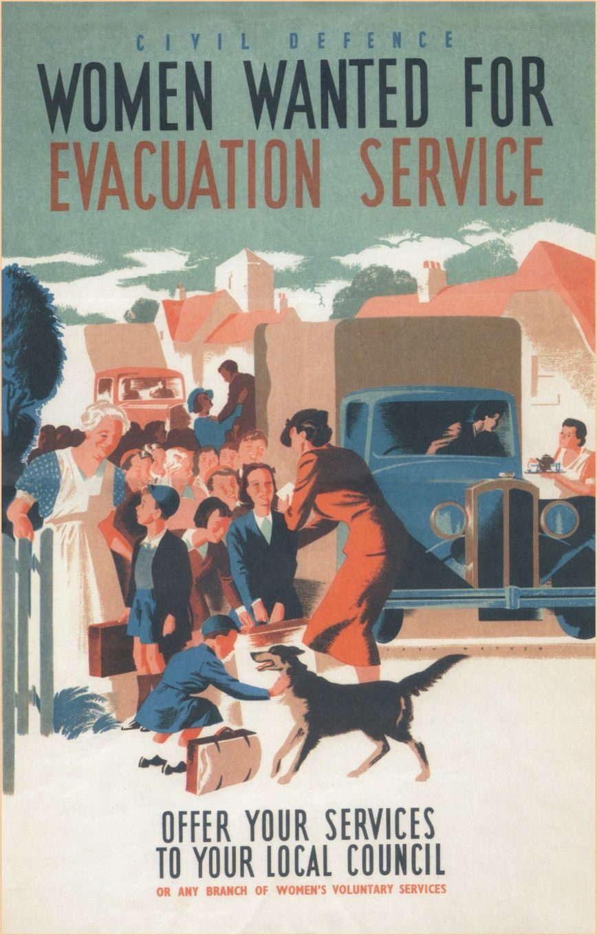 Women Wanted for the Evacuation Service - Poster