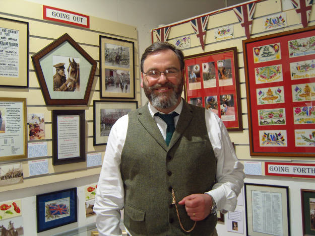 Paul Laidlaw in the temporary exhibition space at the Heritage Centre