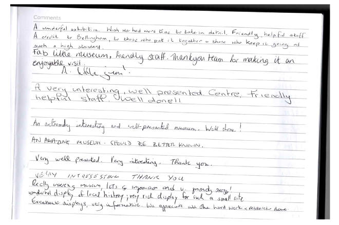 Comments in the Visitors Book